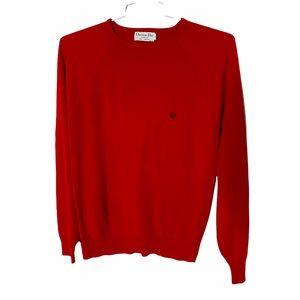 Christian Dior Monsieur Red Long Sleeve Sweater M